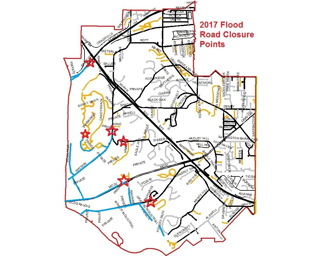 Flood Closure Points