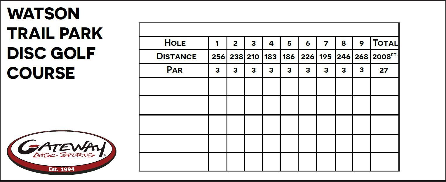 This is an image of Lucrative Disc Golf Scorecard Printable